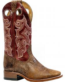 Boulet Everest Atwood Puma Rojo Cowgirl Boots - Square Toe