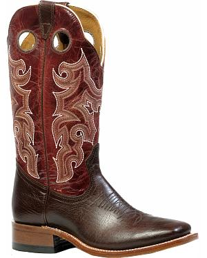 Boulet Womens Shoulder Taurus Noce Puma Rojo Western Boots - Square Toe
