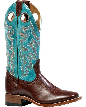 Boulet Shoulder Taurus Noce West Turqueza Cowgirl Boots - Square Toe