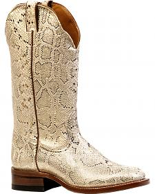 Boulet Champs Elysees Platinum Cowgirl Boots - Square Toe