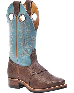 Boulet Shoulder Buffalo Bill Matte Cowgirl Boots - Square Toe