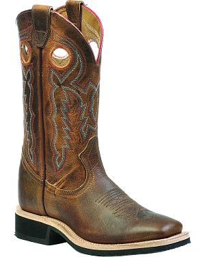 Boulet Laid Back Tan Spice Dual Density Cowgirl Boots - Square Toe