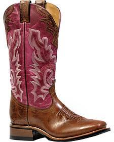 Boulet Puma Madera Lava Magenta Rider Outsole Cowgirl Boots - Square Toe