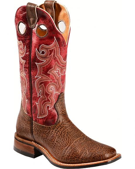Boulet Shoulder Taurus Noce Puma Rojo Cowgirl Boots - Square Toe
