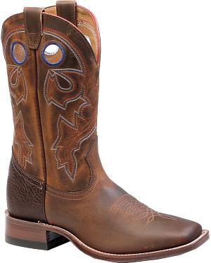 Boulet Laid Back Tan Spice Cowgirl Boots - Square Toe