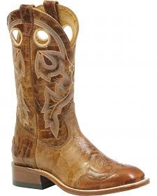 Boulet Puma Madera Tan Cowgirl Boots - Square Toe
