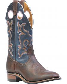 Boulet Laid Back Copper Organza Azul Cowgirl Boots- Round Toe