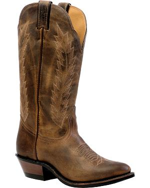 Boulet Hillbilly Golden Rider Sole Cowgirl Boots - Medium Toe