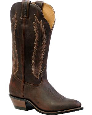 Boulet Grizzly Mountain Cowgirl Boots - Medium Toe