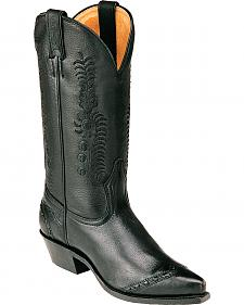 Boulet Sporty Black Cowgirl Boots - Pointed Toe