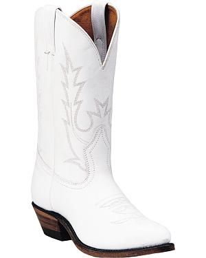 Boulet Tamboreador Blanco Cowgirl Boots - Pointed Toe