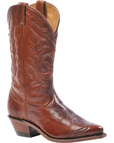 Boulet Boulevard Marrone Italian Lamb Cowgirl Boots - Pointed Toe