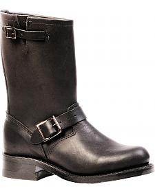 Boulet Everest Black Harness Boots - Round Toe