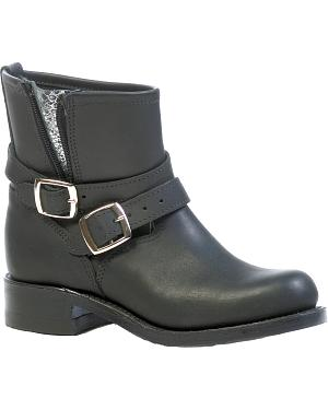 Boulet Everest Black Two Buckle Round Toe