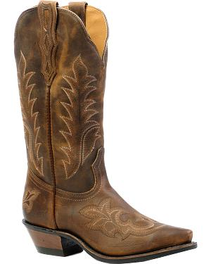 Boulet Selvaggio Wood Cowgirl Boots - Snip Toe