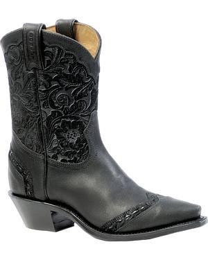 Boulet Art Barocco Calf Split Short Cowgirl Boots - Snip Toe
