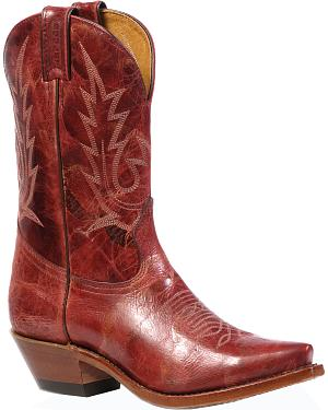 Boulet Puma Rojo Cowgirl Boots - Snip Toe