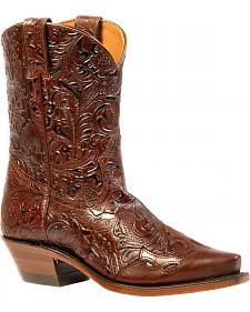 Boulet Ranger Chestnut Dankan Brown Short Boots - Snip Toe