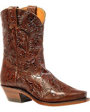 Boulet Ranger Chestnut Dankan Brown Short Boots - Snip Toe