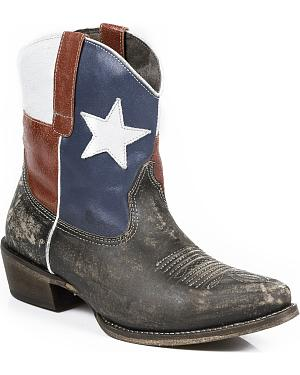 Roper Texas Beauty Shorty Cowgirl Boots - Snip Toe