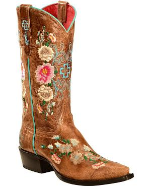 Anderson Bean Boots Macie Bean Rose Garden Cowgirl Boots - Snip Toe