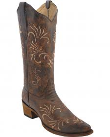 Circle G Women's Filigree Cowgirl Boots - Snip Toe