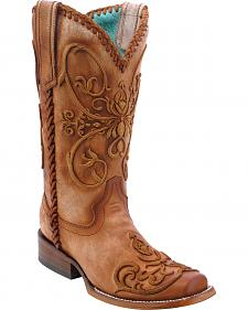 Corral Women's Whip Stitch Cowgirl Boots - Square Toe