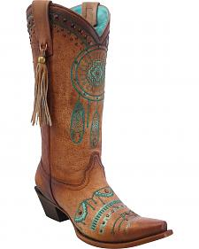 Corral Women's Dreamcatcher Cowgirl Boots - Snip Toe