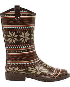 Blazin Roxx Women's Scarlett Rain Boots - Square Toe
