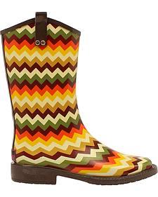 Blazin Roxx Clara Chevron Rain Boots - Square Toe