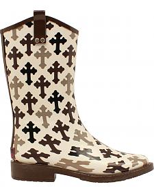 Blazin Roxx Caroline Hope Cross Rain Boots - Square Toe