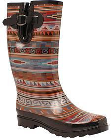 Blazin Roxx Perry Tribal Rain Boots - Round Toe Ro