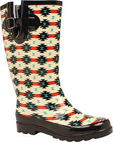 Blazin Roxx Hattie Aztec Rain Boots - Square Toe