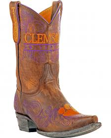 Gameday Clemson University Cowgirl Boots - Snip Toe