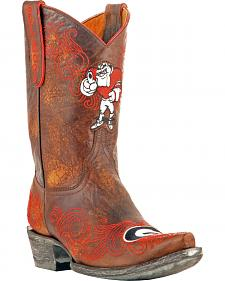Gameday University of Georgia Cowgirl Boots - Snip Toe