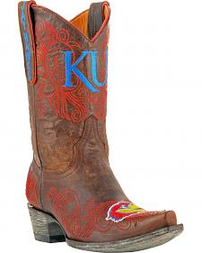 Gameday Boots Women's University of Kansas Western Boots - Snip Toe