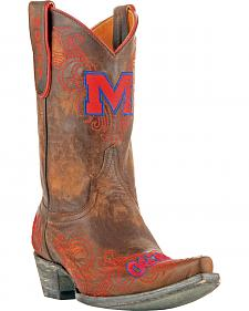 Gameday University of Mississippi Cowgirl Boots - Snip Toe