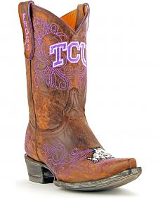Gameday Texas Christian University Cowgirl Boots - Snip Toe