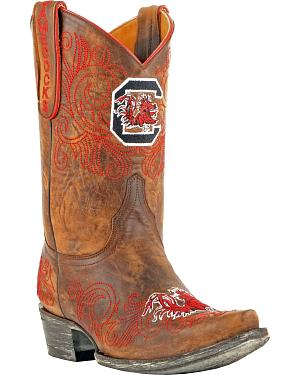 Gameday University of South Carolina Cowgirl Boots - Snip Toe