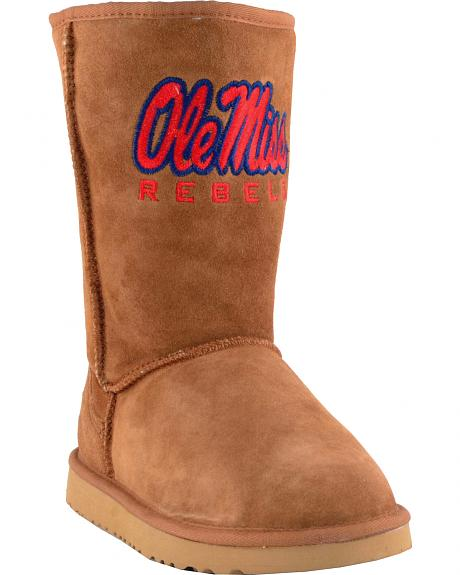 Gameday Boots Women's University of Mississippi Lambskin Boots