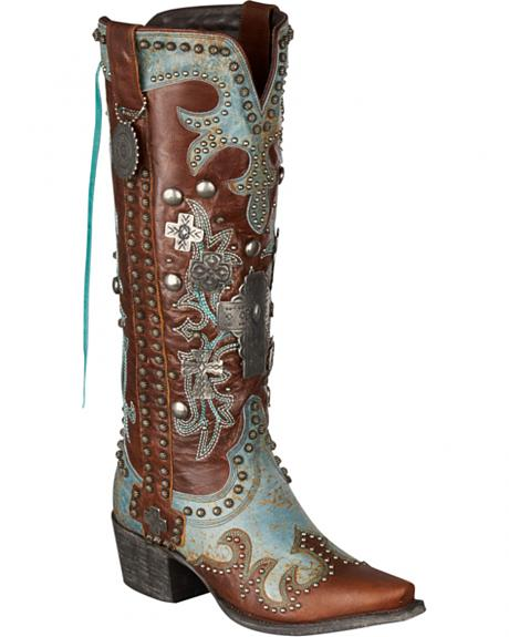 Lane for Double D Ranch Ammunition Cowgirl Boots - Snip Toe