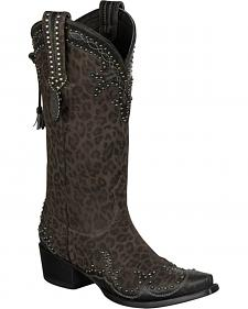 Lane for Double D Ranch Cheetah Chic Cowgirl Boots - Snip Toe