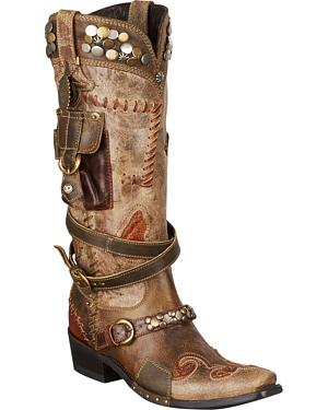 Lane for Double D Ranch Frontier Trapper Cowgirl Boots - Snip Toe