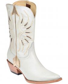 Lucchese Kacey Musgraves Golden Arrow Cowgirl Boots