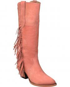 Lucchese Kacey Musgraves Gallop Suede Boots - Medium Toe