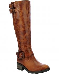 Corral Circle G Tall Engineer Cowgirl Boots - Round Toe