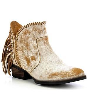 Circle G Fringe Short Boots - Round Toe