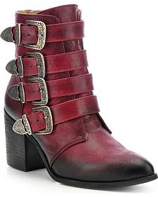 Circle G Buckled Ankle Boots - Round Toe