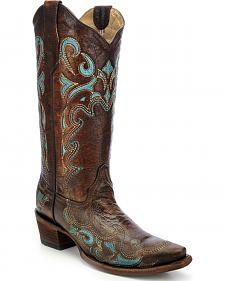 Circle G Embroidered Cowgirl Boots - Snip Toe