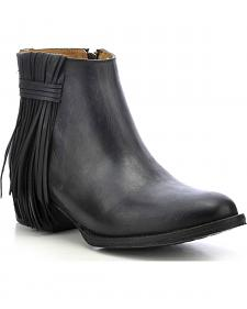Circle G Fringe Ankle Boots - Medium Toe